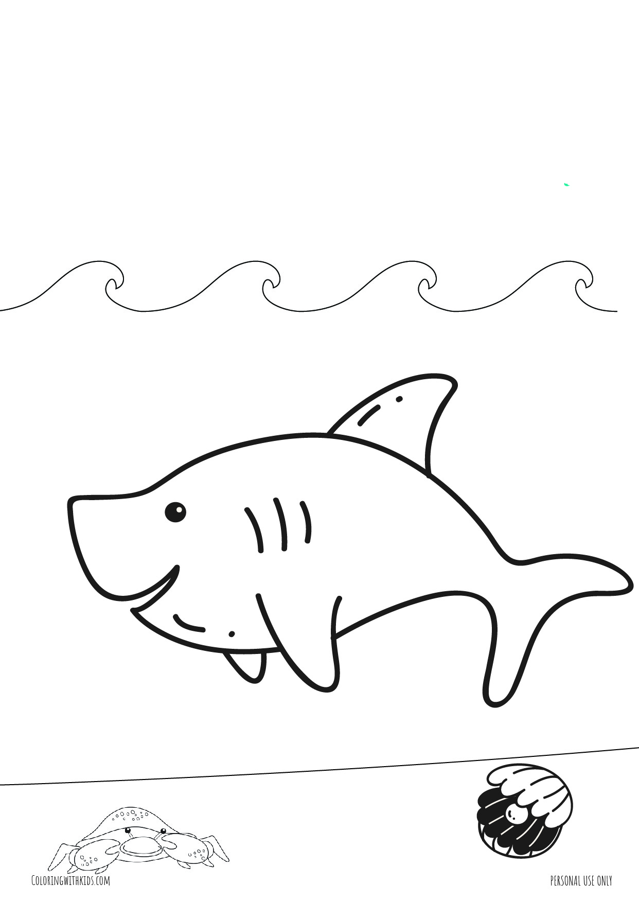 cute Shark coloring page