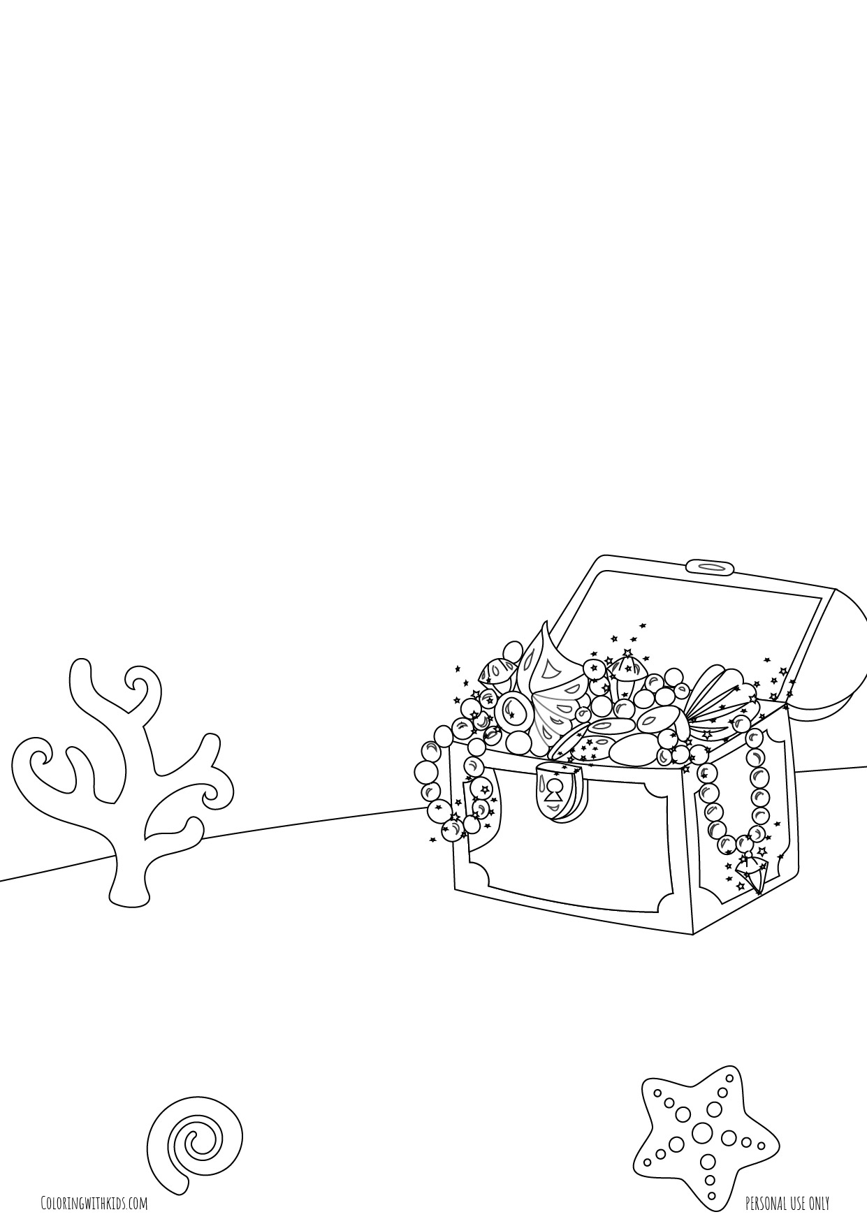 under the sea background coloring page