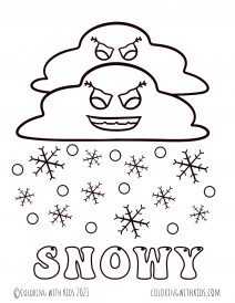Snowy Coloring Pages