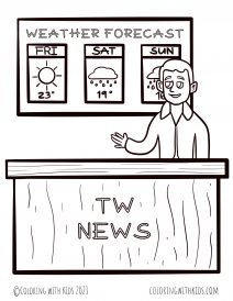 Weather Forecast Coloring Pages