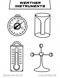 Weather Instruments Coloring Pages