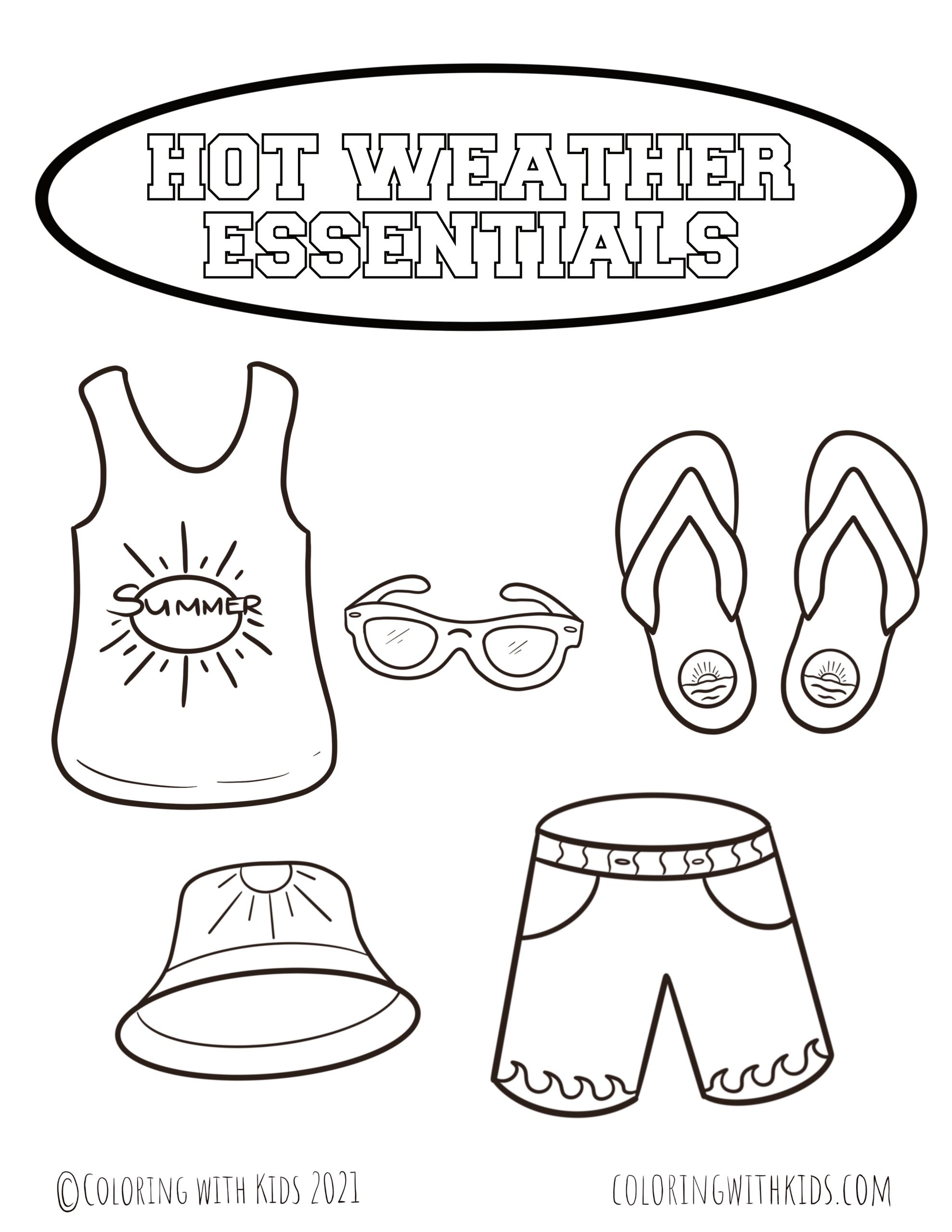 Weather Related Coloring Pages