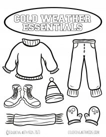 Weather Themed Coloring Page