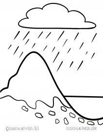 Weathering and Erosion Coloring Pages Pdf