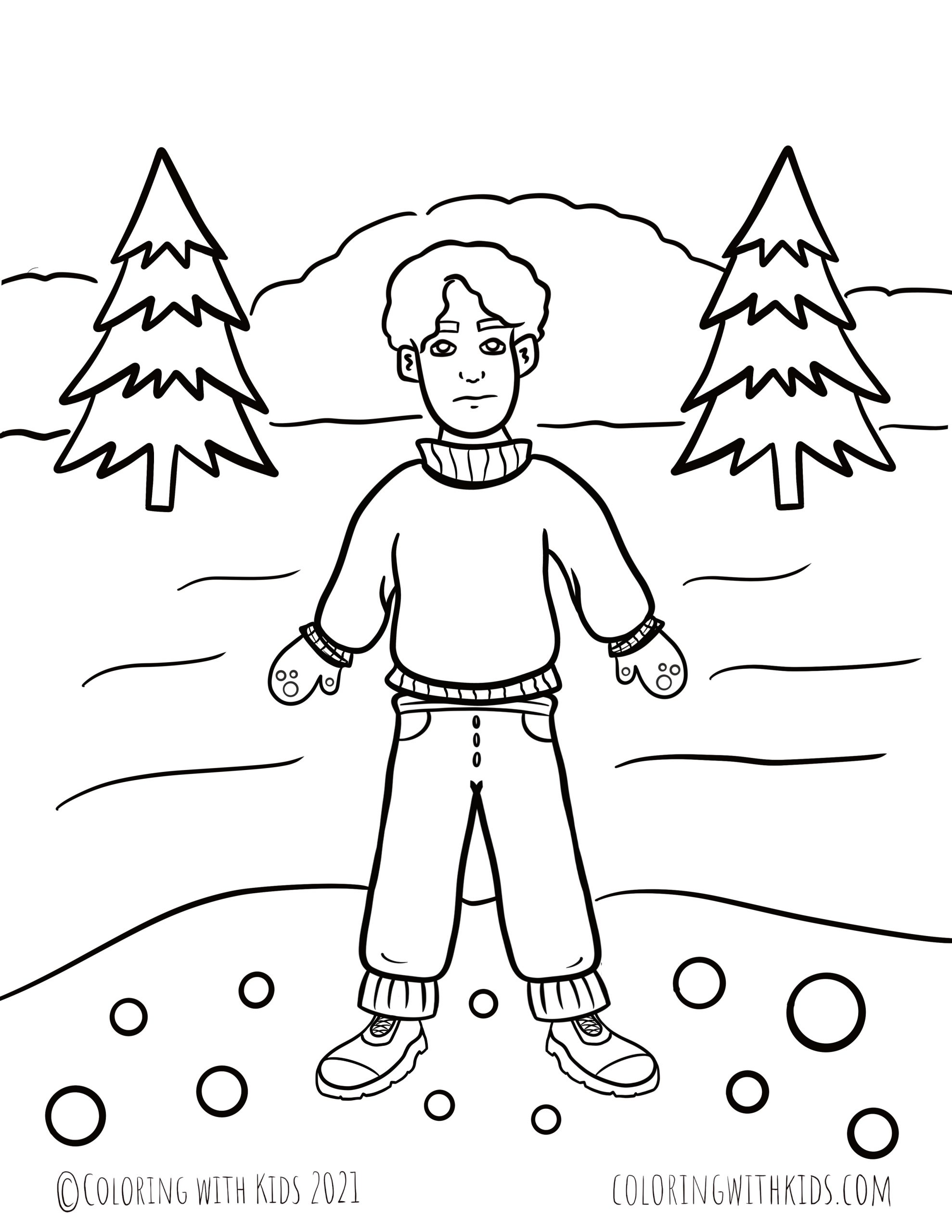 Winter Weather Coloring Pages(1)