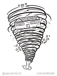 Wizard Of Oz Tornado Coloring Pages