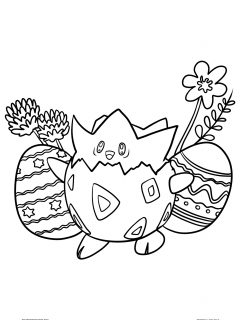 Pokemon Easter Coloring Pages