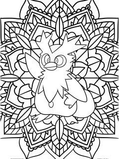 Pokemon Mandala Coloring Pages